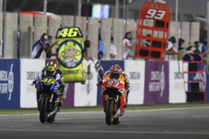 Qatar MotoGP: Marquez beats Rossi in action-packed race