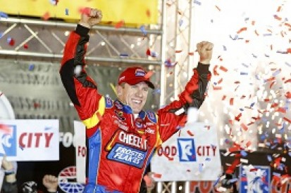 Bristol NASCAR: Edwards wins after rain and chaos take their toll