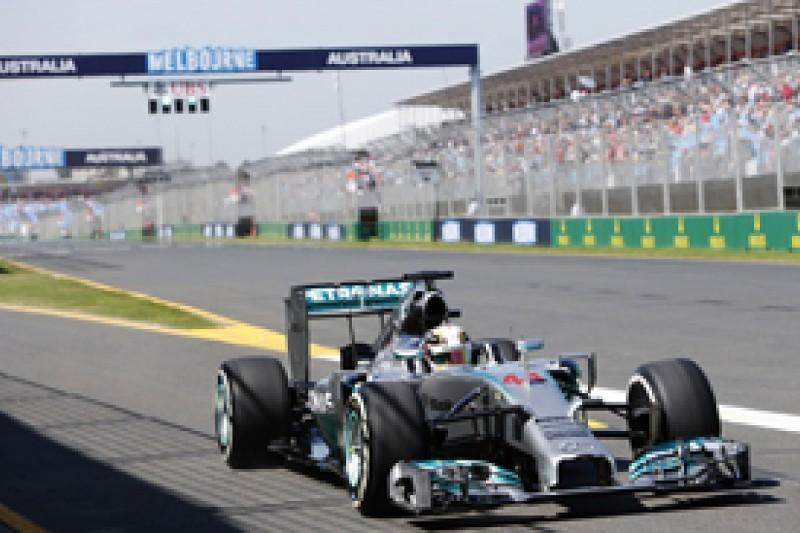 Australian GP: Lewis Hamilton puts Mercedes on top in practice two