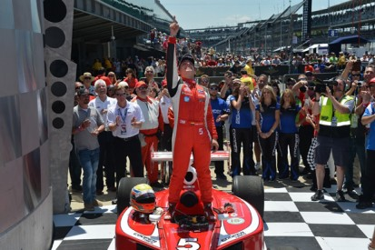 Indy Lights Freedom 100: Gabby Chaves takes dramatic win