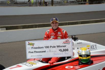 Indy Lights Freedom 100: Luiz Razia claims maiden oval pole