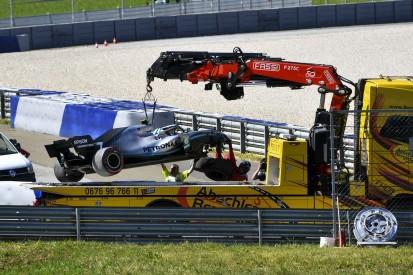 Drei Formel-1-Stars fliegen im Training ab: Hatte der Wind Schuld?