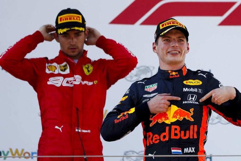 Verstappen vs. Leclerc: Starker Fight um den Sieg - mit einem Schönheitsfehler