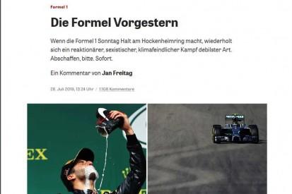 """Kommentar zur """"Formel Vorgestern"""": Das war echt daneben!"""