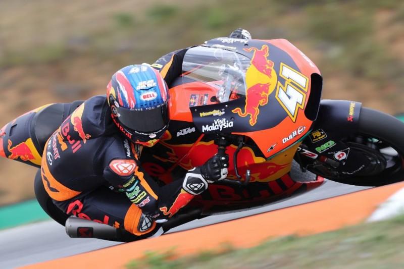 Moto2 in Spielberg 2019: Binder mit KTM im FT2 vorn, Schrötter stürzt erneut