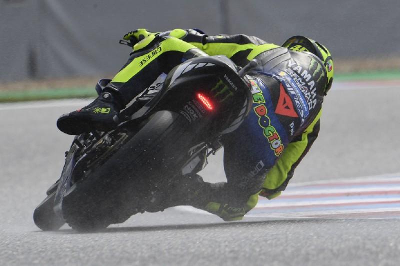 MotoGP in Spielberg 2019: Valentino Rossi im nassen Warm-up Zweiter