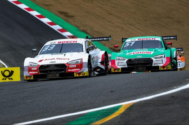 DTM-Rennen Brands Hatch 2: Rast siegt nach Audi-Teamplay vor Rivale Müller