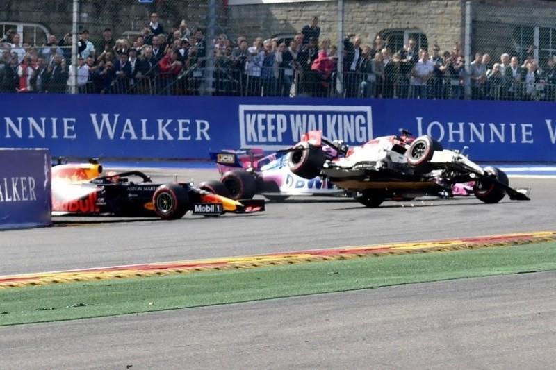 """""""Dumm"""": Vasseur kritisiert Verstappen nach Startcrash mit Räikkönen"""