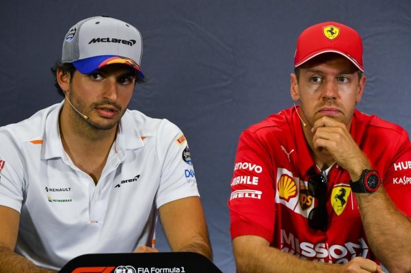 Carlos Sainz: Vettel muss sich wegen Leclerc Sorgen machen