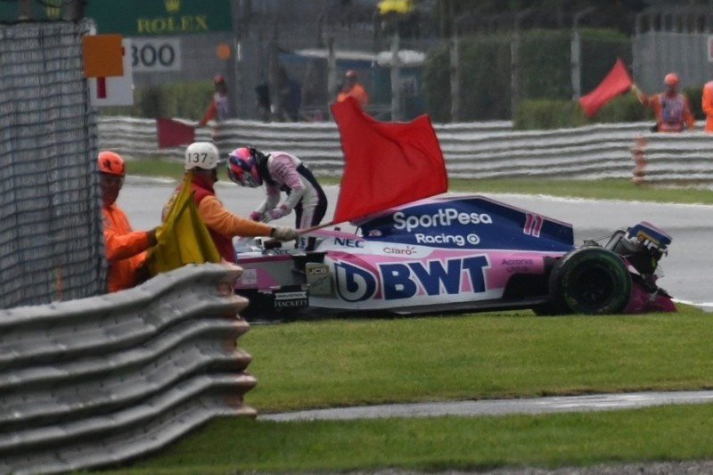 Sergio Perez: Kritik an Regenreifen nach Trainingsunfall in Monza