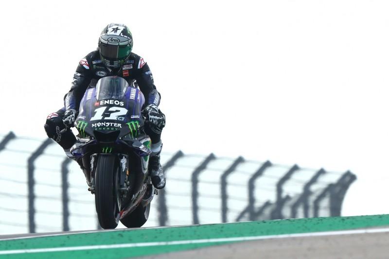 MotoGP Aragon 2019: Vinales im Warm-up auf feuchter Strecke vorn