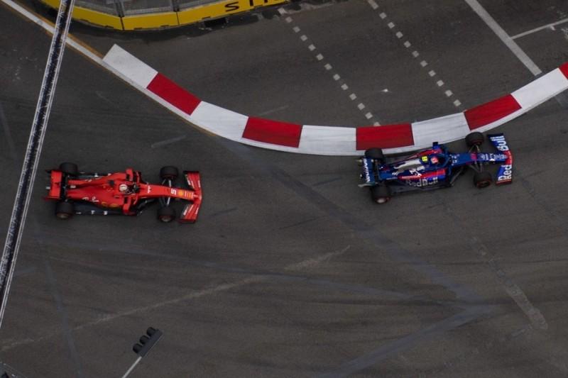 """""""Sehr spät gesehen"""": Fast-Crash zwischen Vettel und Gasly"""