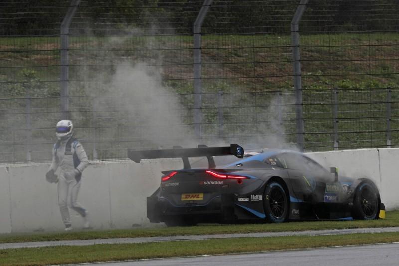 Aston-Martin-Debakel in Runde 1: Juncadella-Auto brennt!