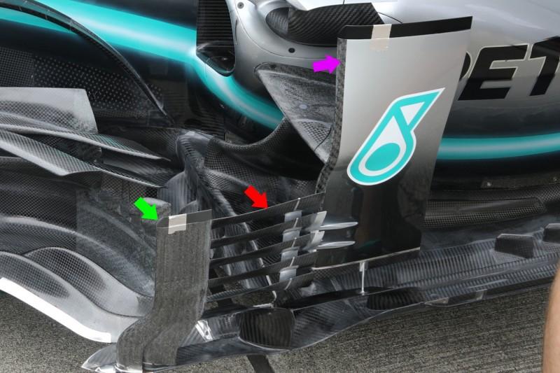 Formel-1-Technik Suzuka: Mercedes rüstet bei Bargeboards nach