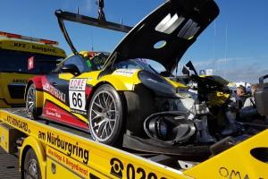 Rot bei VLN8: Schwerer Unfall mit vier Autos in Startphase