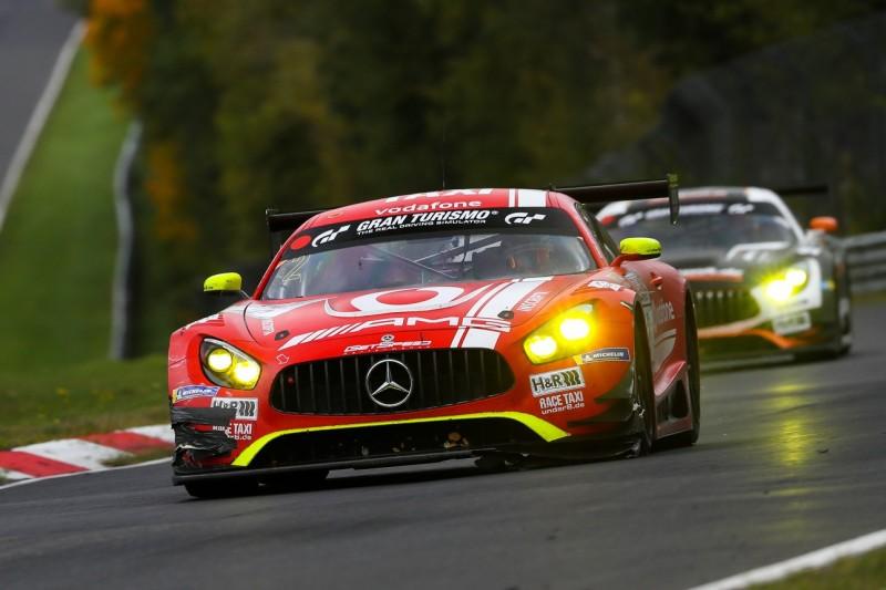 GetSpeed-Mercedes fuhr komplettes VLN8 mit losem Splitter