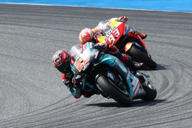 """Marquez belauert Quartararo und sagt dann: """"Wollte anderem Fahrer folgen"""""""