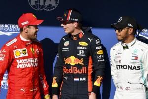 Zweite oder dritte Pole? Vettel und Hamilton witzeln mit Verstappen
