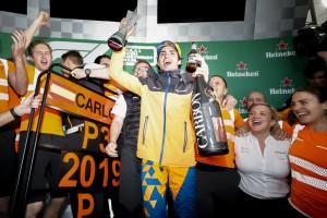 """""""Beste Leistung"""": Carlos Sainz feiert eigene Podestzeremonie"""