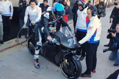Rückschlag: Alex Marquez stürzt beim ersten Ausflug mit der MotoGP-Honda