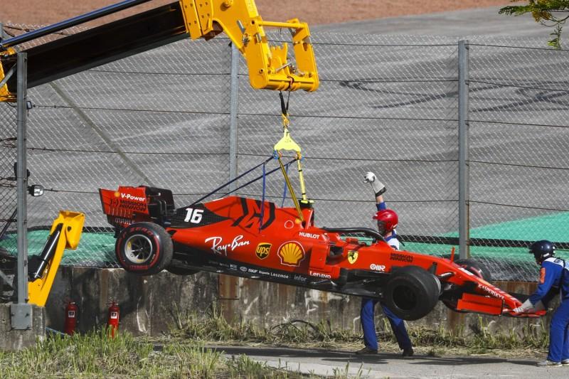 Leclerc über Brasilien-Crash: War gar nicht so schlimm