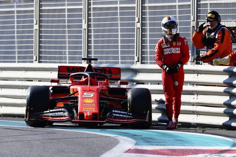 """Vettel über Abu-Dhabi-Crash: """"Dumm gelaufen, Glück gehabt"""""""