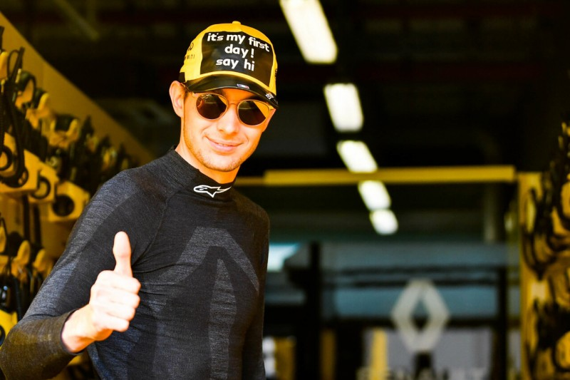 Formel-1-Test Abu Dhabi: Esteban Ocons witzige Renault-Premiere
