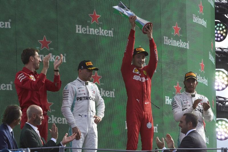 Heimsieg für Ferrari: Leclerc mit Gänsehaut auf dem Monza-Podium