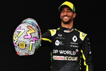 Bunt auf Grau: Daniel Ricciardo stellt komplett neues Helmdesign vor