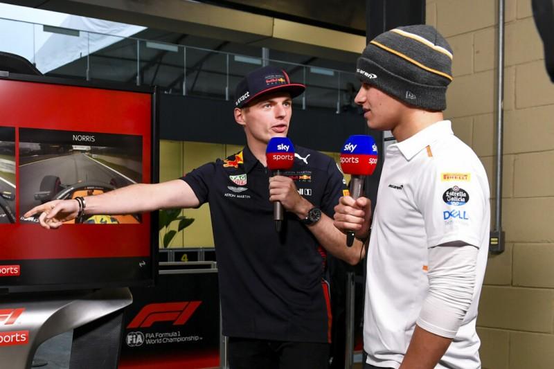Max Verstappen und Lando Norris kollidieren im Kampf um Sim-Racing-Sieg