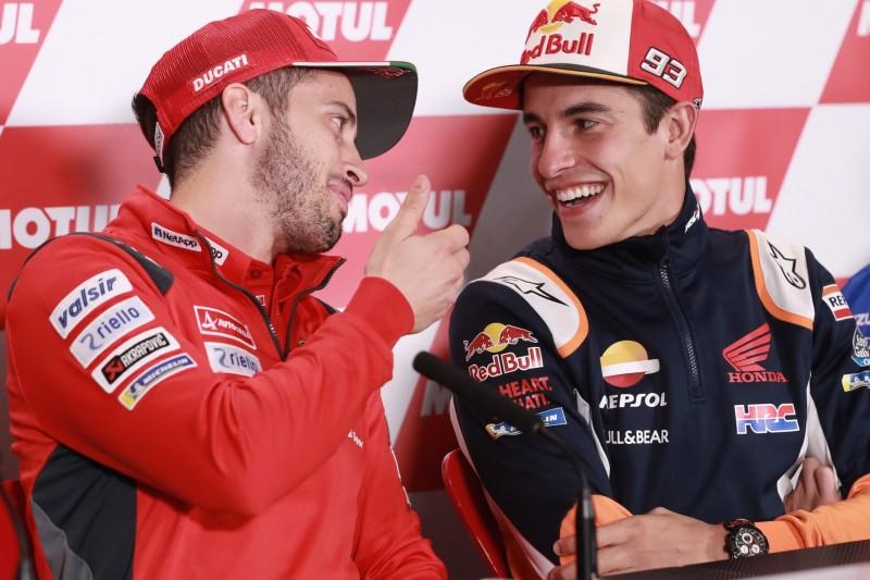 """""""Sehr überrascht"""": Dovizioso dachte, Marquez würde die Marke wechseln"""