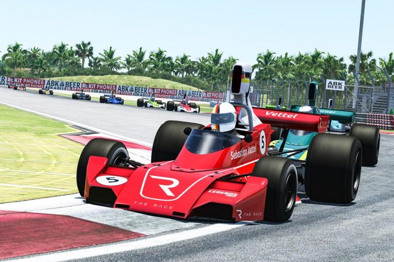 Sim-Racing-Debüt von Sebastian Vettel endet ohne Top-10-Platzierung