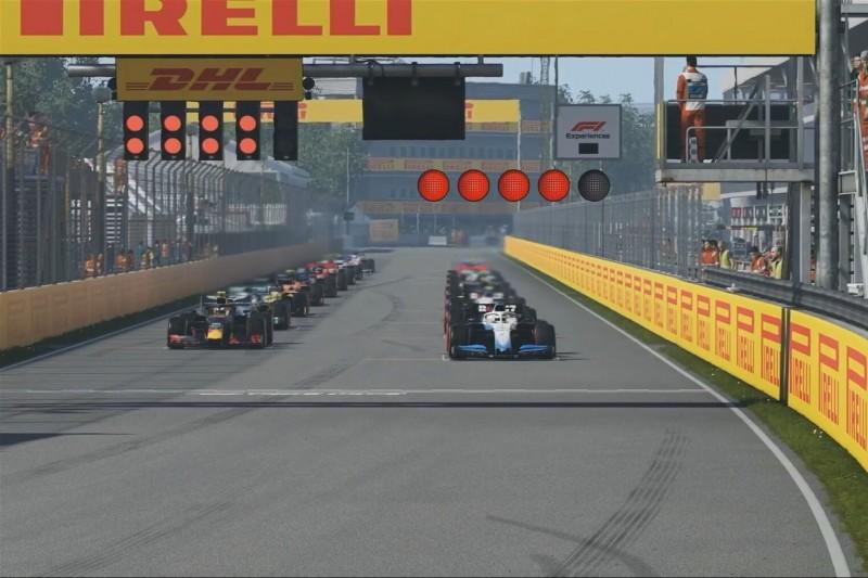 Virtueller GP Kanada: Russell triumphiert ohne konstruiertes Finish