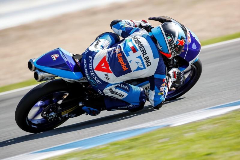 Moto3 Jerez FT2: Gabriel Rodrigo erneut vorn, Niccolo Antonelli mit Highsider