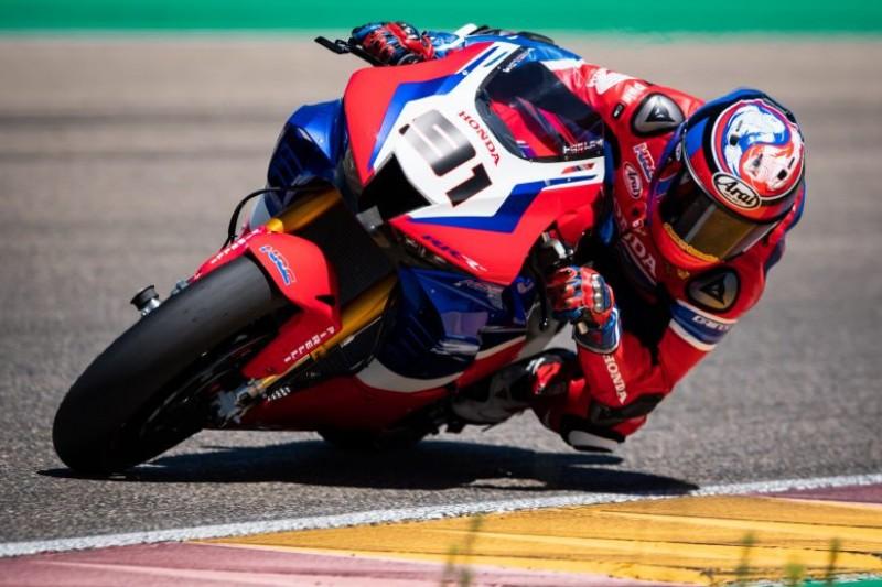 Aragon-Test: Leon Haslam lässt Honda-Teamkollege Alvaro Bautista hinter sich