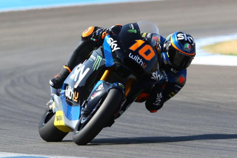 Moto2 Jerez: Luca Marini gewinnt, Marcel Schrötter mit Highspeed-Crash