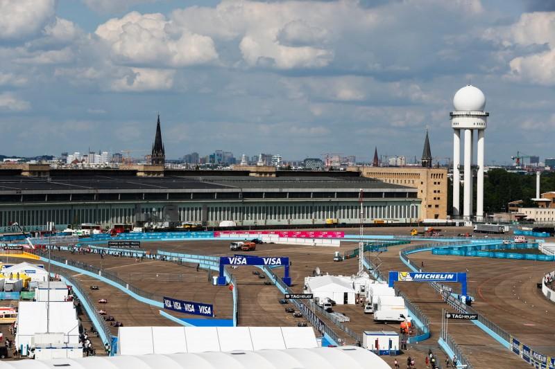 Die drei Streckenlayouts für die sechs Berlin-Rennen der Formel E 2019/20