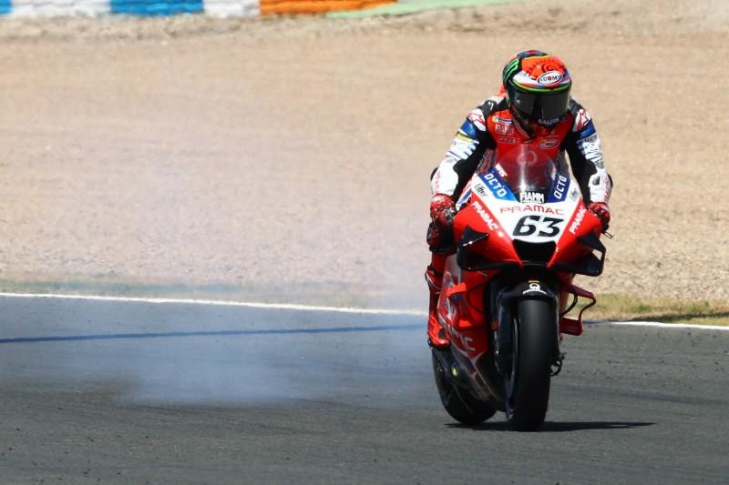 Fahrer kritisieren Rennleitung: Zu spät auf das Öl von Bagnaias Ducati reagiert