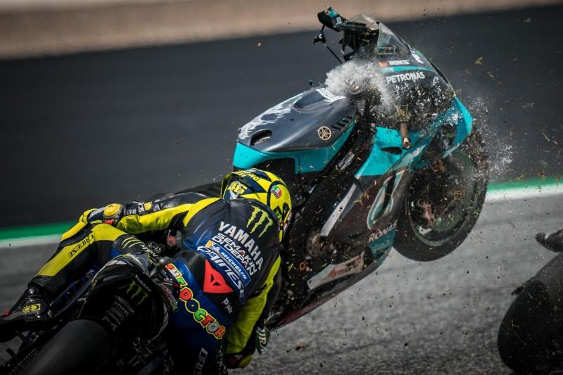 Valentino Rossi Die Schutzengel Der Motogp Leisteten Heute Gute Arbeit