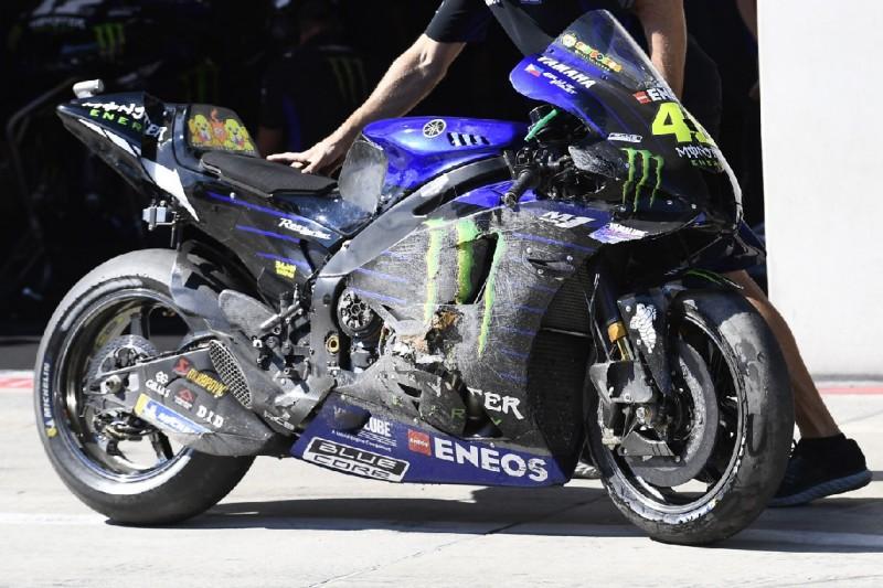 Yamaha: Rossi erklärt Qualifying-Sturz, Vinales setzt im Rennen auf Risiko