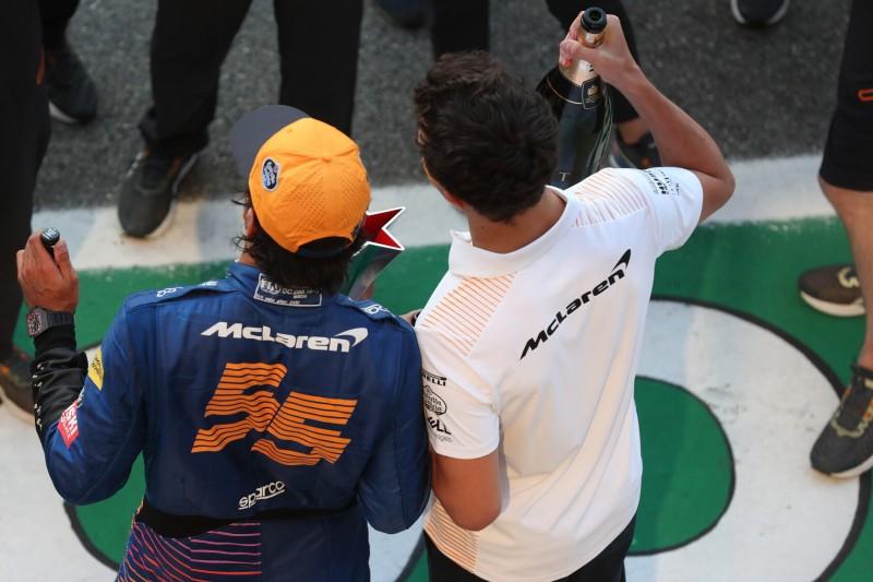 McLaren-Feierlichkeiten in Monza: Lando Norris verletzt sich an der Hand