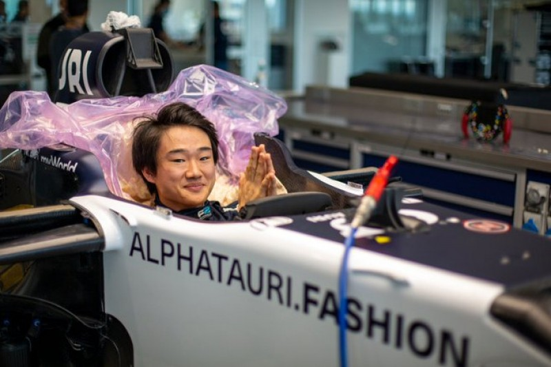Formel-1-Debüt in Imola: Erster AlphaTauri-Test für Yuki Tsunoda