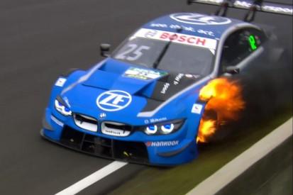 """""""Atem angehalten"""": Engs BMW fängt nach Auer-Kollision Feuer"""
