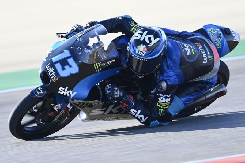 Moto3 Valencia FT2: Vietti auf abtrocknender Strecke Schnellster