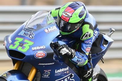 Moto2 Valencia FT2: Bastianini fährt Bestzeit, WM-Leader Lowes stürzt