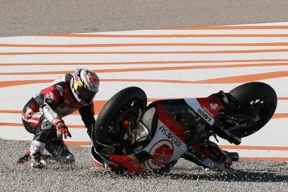 Honda in Valencia 2: Nakagami kann sich Sturz im Duell um P3 nicht erklären