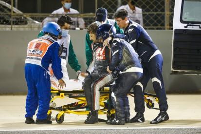 """Lewis Hamilton: """"Bin dankbar, dass die Leitplanke Grosjean nicht geköpft hat"""""""