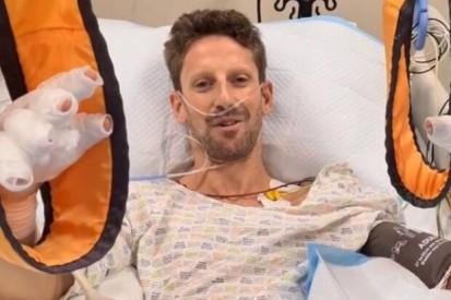 Diagnose bei Grosjean: Keine Brüche, eine Nacht im Krankenhaus