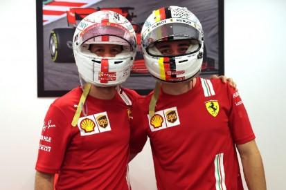 Helmtausch in Abu Dhabi: Vettels Abschiedsgruß an Leclerc