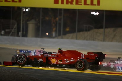 Leclerc handed three-place grid penalty after Sakhir GP opening lap collision
